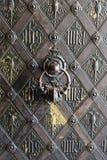 Detalle de la puerta de bronce Imágenes de archivo libres de regalías
