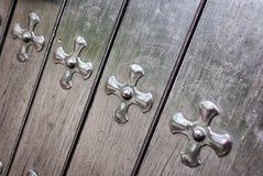 Detalle de la puerta de la iglesia Imagen de archivo libre de regalías