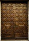 Detalle de la puerta de madera adornada Imagen de archivo libre de regalías