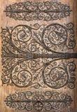 Detalle de la puerta de Notre Dame de Paris Cathedral, París Foto de archivo