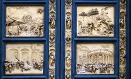 Detalle de la puerta del paraíso en Florencia Foto de archivo