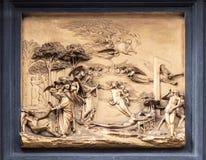 Detalle de la puerta del paraíso en Florencia Imagen de archivo libre de regalías