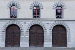 Detalle de la puerta en la abadía de St Gallen Imagenes de archivo