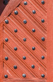 Detalle de la puerta vieja en las casas medievales en Schotten Imagen de archivo libre de regalías