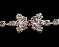 Detalle de la pulsera del diamante Imagen de archivo libre de regalías