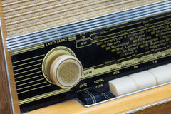 Detalle de la radio del vintage Imágenes de archivo libres de regalías