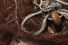 Detalle de la red de pesca. Imagenes de archivo