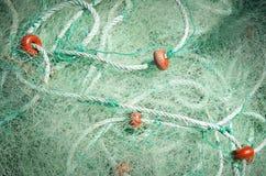 Detalle de la red de pesca Imagen de archivo