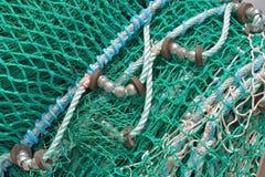 Detalle de la red de pesca imagenes de archivo