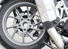Detalle de la rueda de la moto Foto de archivo libre de regalías