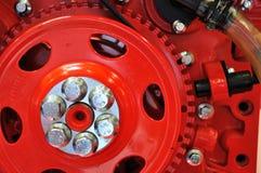 Detalle de la rueda volante del motor Foto de archivo