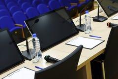 Detalle de la sala de conferencias Fotografía de archivo libre de regalías