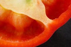 Detalle de la sección del paprika Fotografía de archivo libre de regalías