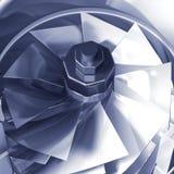 Detalle de la sección representativa de la turbina libre illustration
