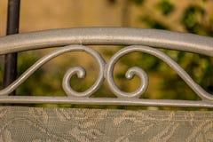 Detalle de la silla de jardín imagen de archivo libre de regalías