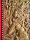 Detalle de la talla budista Fotos de archivo libres de regalías