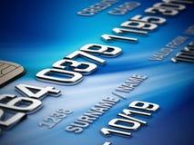 Detalle de la tarjeta de crédito libre illustration