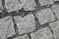 Detalle de la textura de la calle del adoquín Imagenes de archivo