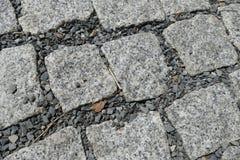 Detalle de la textura de la calle del adoquín Fotografía de archivo