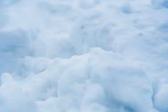 Detalle de la textura de la nieve borroso Uso para las postales, trabajo de arte, previsión metereológica Fotografía de archivo libre de regalías