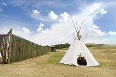 Detalle de la tienda de los indios norteamericanos Fotografía de archivo