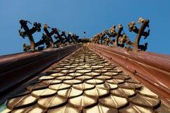 Detalle de la torre de iglesia vieja Imagenes de archivo