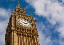 Detalle de la torre de reloj en Londres Fotografía de archivo libre de regalías