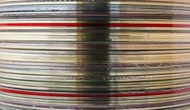 Detalle de la torre del CD Imagen de archivo libre de regalías