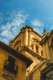 Detalle de la torre de Granada Catehdral, catedral de la encarnación fotografía de archivo libre de regalías