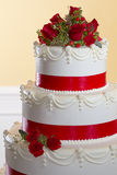 Detalle de la torta de boda Imagen de archivo libre de regalías