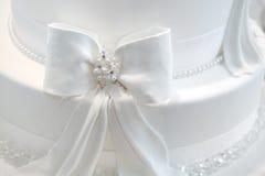 Detalle de la torta de boda Foto de archivo libre de regalías