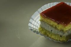 Detalle de la torta de la fresa fotografía de archivo libre de regalías