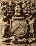 Detalle de la tumba en la abadía de Jedburgh en Escocia Imágenes de archivo libres de regalías