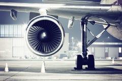 Detalle de la turbina del aeroplano imagenes de archivo