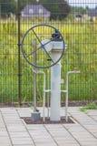 Detalle de la válvula de la rueda Foto de archivo libre de regalías