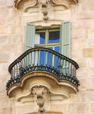 Detalle de la ventana de Calvet de las casas Imagen de archivo libre de regalías