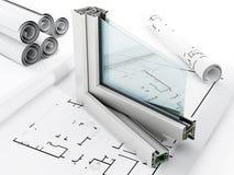 Detalle de la ventana del PVC stock de ilustración