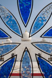 Detalle de la ventana - mezquita magnífica de Abu Dhabi Foto de archivo libre de regalías