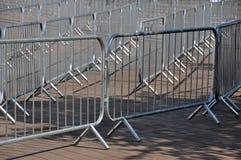 Detalle de las barreras de la muchedumbre Foto de archivo