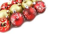 Detalle de las bolas de la Navidad Imagen de archivo