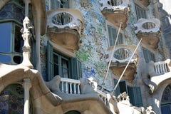Detalle de las casas Batllo Fotos de archivo