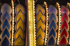 Detalle de las decoraciones del parque de atracciones Fotografía de archivo libre de regalías