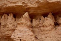 Detalle de las formaciones de roca en los Badlands de Castle Rock imagen de archivo libre de regalías
