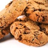 Detalle de las galletas del chocolate Imagenes de archivo