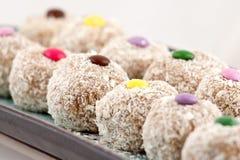 Detalle de las galletas del coco Foto de archivo