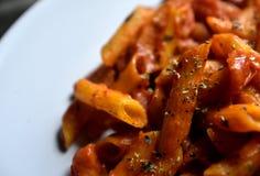 Detalle de las pastas del tomate Imagen de archivo