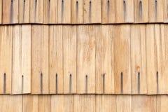Detalle de las tablas de madera del tejado Imagenes de archivo