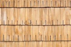 Detalle de las tablas de madera del tejado Foto de archivo