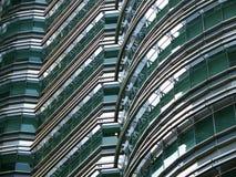 Detalle de las torres gemelas de Petronas Imagenes de archivo