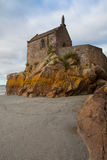 Detalle de Le histórico famoso Mont Saint-Michel Normandy, Francia Fotografía de archivo